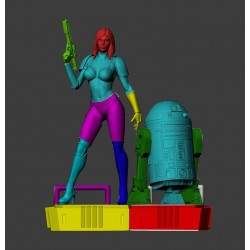 Sexy Stormtrooper and R2D2 - STL 3D print files