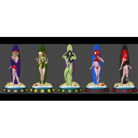 Marvel heroines Surf - STL 3D print files