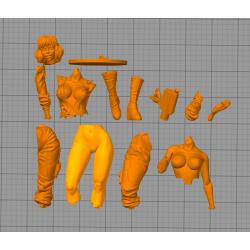 April O'Neil TMNT + NFSW - STL 3D print files