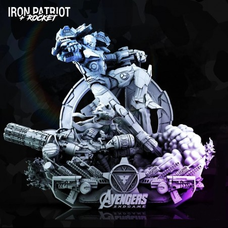 Iron Patriot + Rocket Diorama Base - STL 3D print files