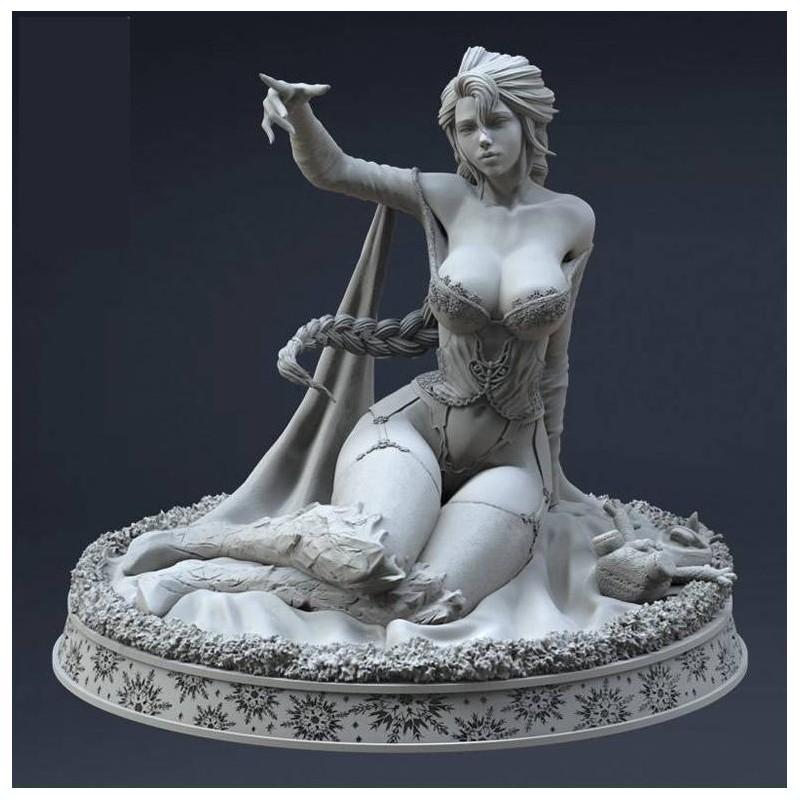 Elsa Frozen + NSWF - STL 3D print files
