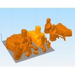 Kratos God of War - STL 3D print files