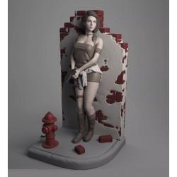 Jill Valentine on the wall + NSFW - STL 3D print files