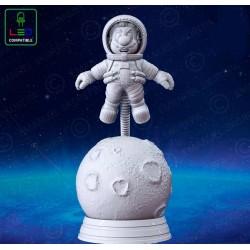 Mario Astronaut Lamp - STL 3D print files