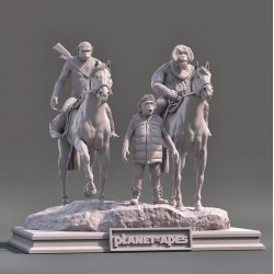 Planet Of The Apes Diorama - STL 3D print files