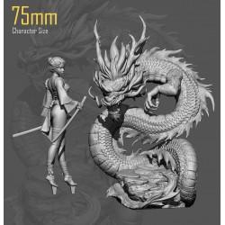 Ryuu Masamune and Dragon - STL 3D print files