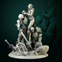 Laedria the Necromancer - STL 3D print files
