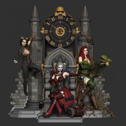 Harley, Poison and Catwoman - STL 3D print files