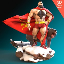 Zangief Street Fighter - STL 3D print files