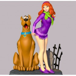 Sexy Daphne and Scooby Doo - STL Files for 3D Print