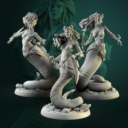 Naga female - STL 3D print files