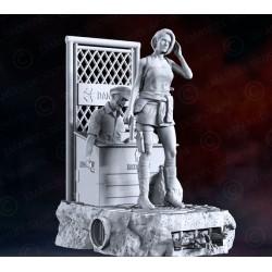 Jill Valentine Diorama - STL 3D print files