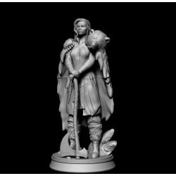 Barbarian Woman - STL 3D print files