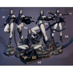 Raven five poses - STL 3D print files