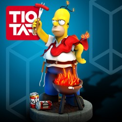 Homer Simpsons Barbecue - STL 3D print files