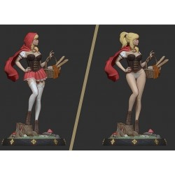Little Red Riding Hood - STL 3D print files
