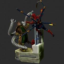 Spiderman vs Dr Octopus - STL 3D print files