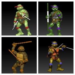 Turtles Ninja Articulated Figures - STL 3D print files
