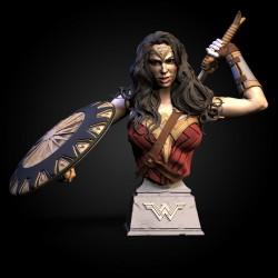 WonderWoman Bust - STL 3D print files