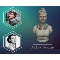 Audrey Hepburn Busto - STL 3D print files