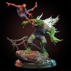 Spiderman vs Lizard - STL 3D print files