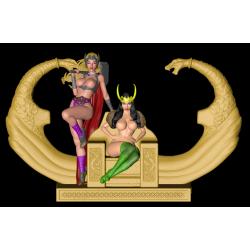 Thor and Loki girl - STL 3D print files