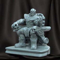 Thanos on Throne Statue - STL Files for 3D Print