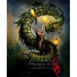Girl and Dragon - STL 3D print files