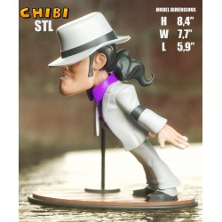 Michael Jackson Chibi - STL 3D print files