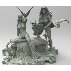 Vampirella and Lady Death - STL 3D print files
