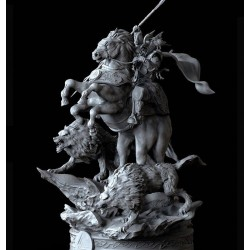 Odin God - The All-Father Diorama - STL Files for 3D Print