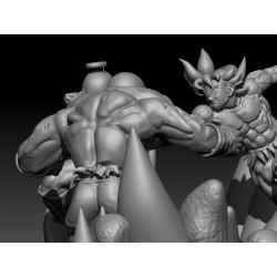 Jiren vs Goku and Freeza Diorama - Dragon Ball Z - STL Files for 3D Print