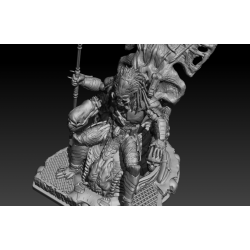 King Predador on Throne - STL Files for 3D Print