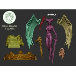 Bathory the Bloody Countess - includes NSFW - STL 3D print files