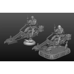 The Mandalorian spider bike diorama - STL Files for 3D Print