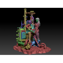 Harley Quinn, Poison Ivy, Wonderwoman NSFW - STL FILES FOR 3D PRINT